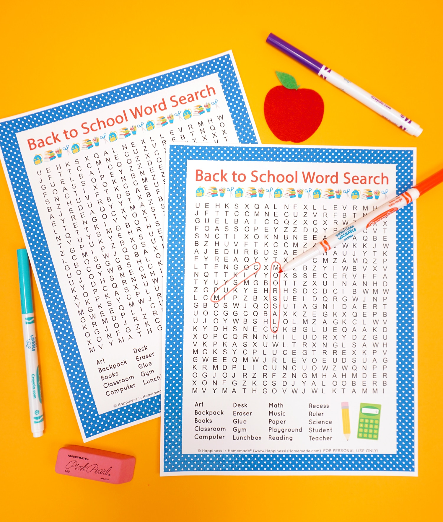 Back To School Alphabet Game Printable