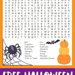 Halloween Word Search Printable Happiness Is Homemade