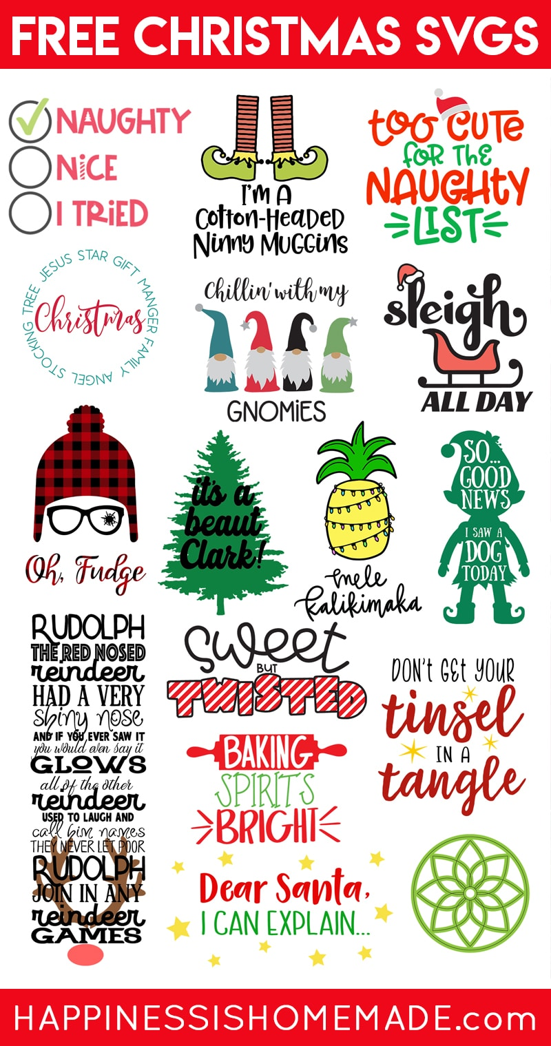 Download Free Christmas SVG Files - Happiness is Homemade