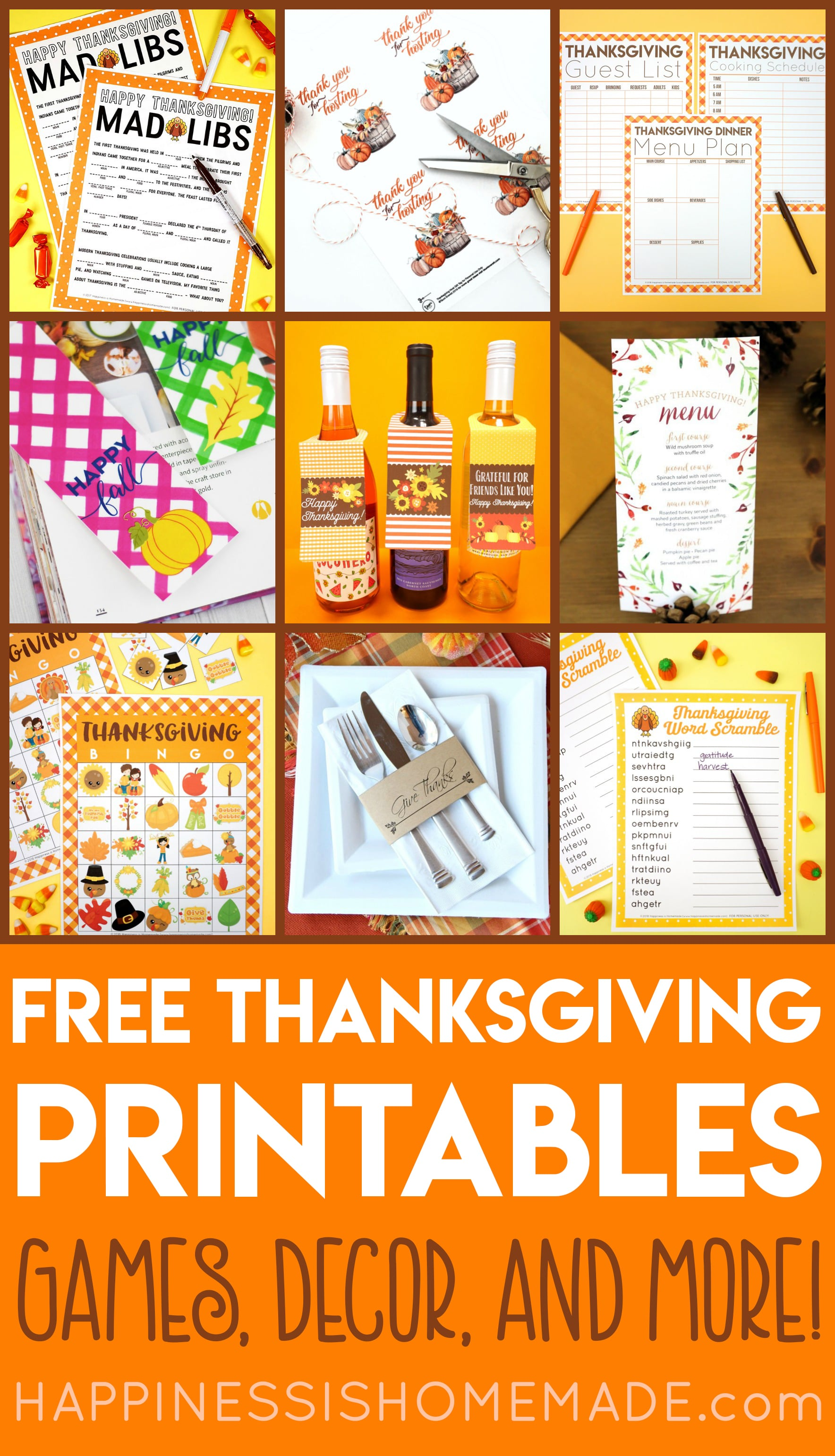 Preschool Thanksgiving Food Worksheet