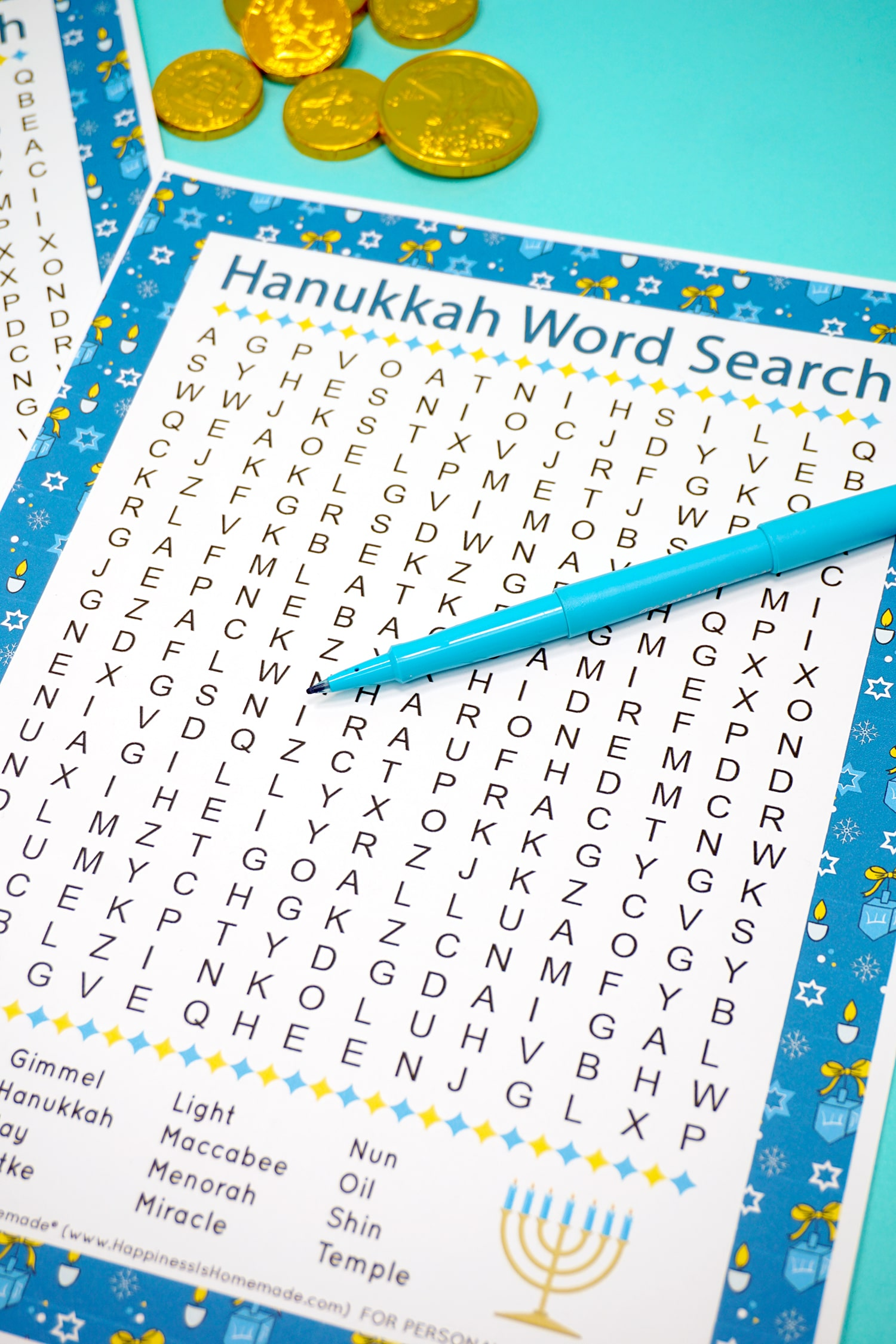 Hanukkah Word Search For Kids Amp Adults