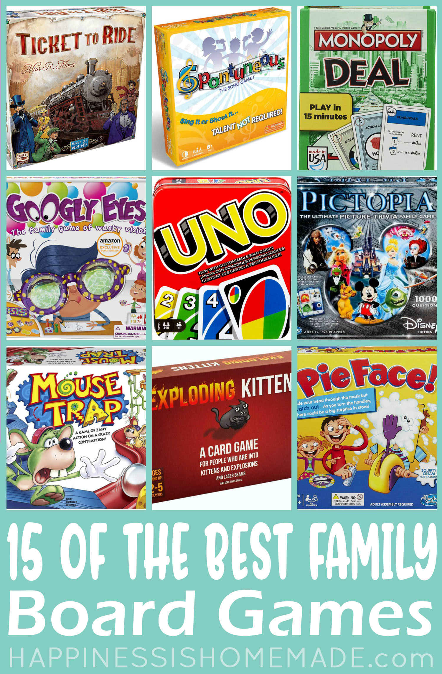 15 of The Best Family Board Games - Happiness is Homemade