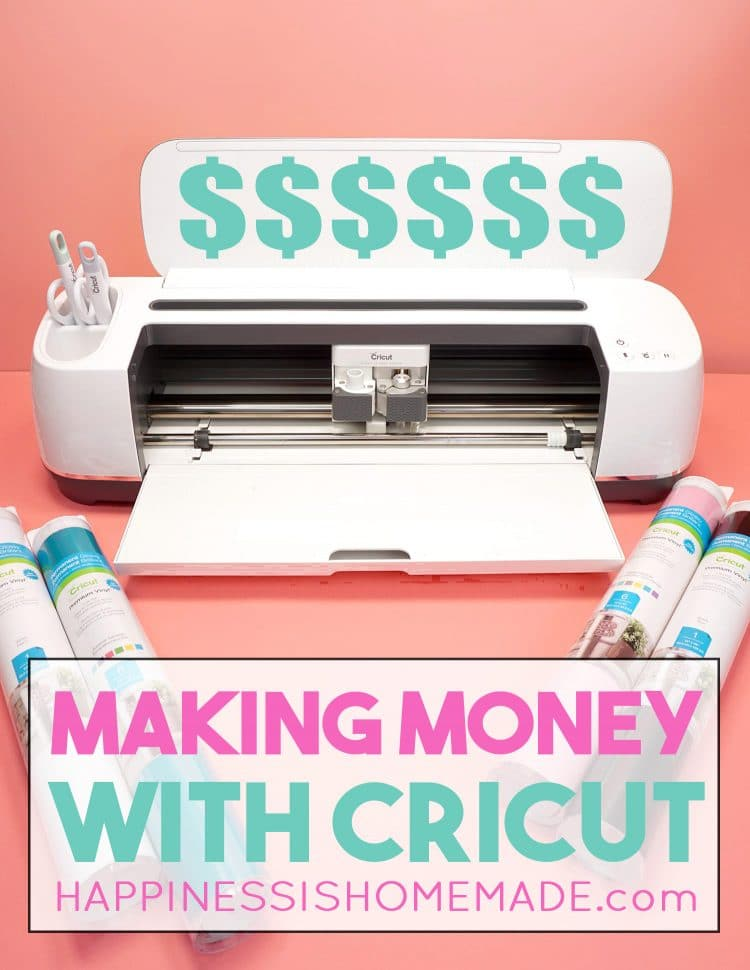 """Cricut maker with the text, """"Making Money with Cricut"""""""