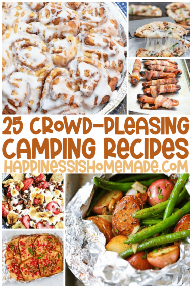 Camping Cooked Food Collage pin