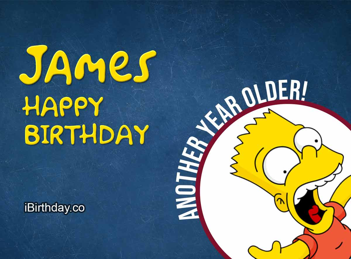 James Happy Birthday Bart Simpson Happy Birthday