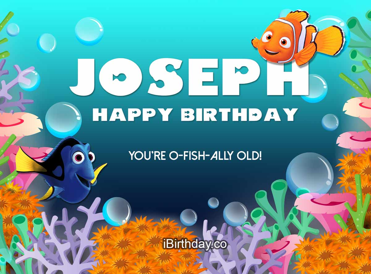 Joseph Nemo Birthday Wish Happy Birthday