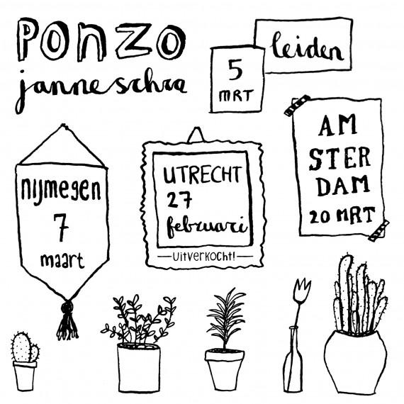 happy acorn janne schra tekenen plantjes urban jungle bloggers
