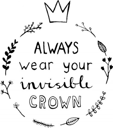 happy acorn always wear your invisible crown ninamaakt kaarten