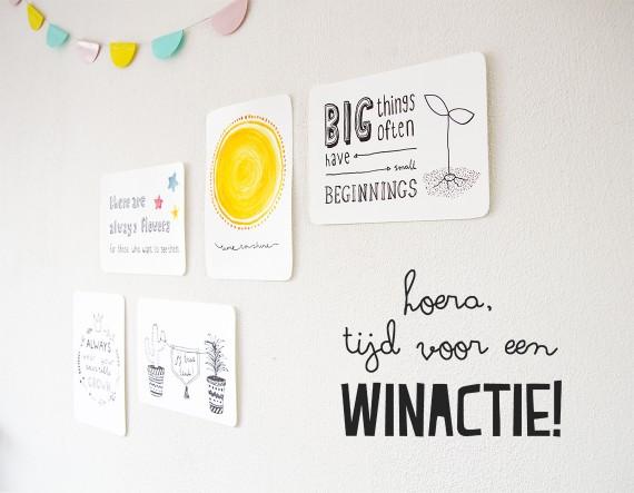 ninamaakt kaarten kaart postcard etsy winactie waterverf inkt