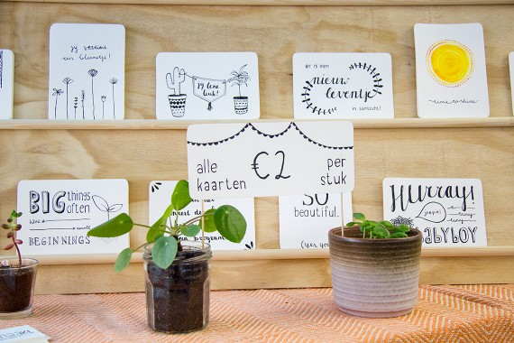 happy acorn ninamaakt marktje assen craft fair kaarten webshop