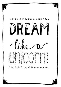 happy acorn ninamaakt unicorn dromen dromenmeisje illustratie kaart