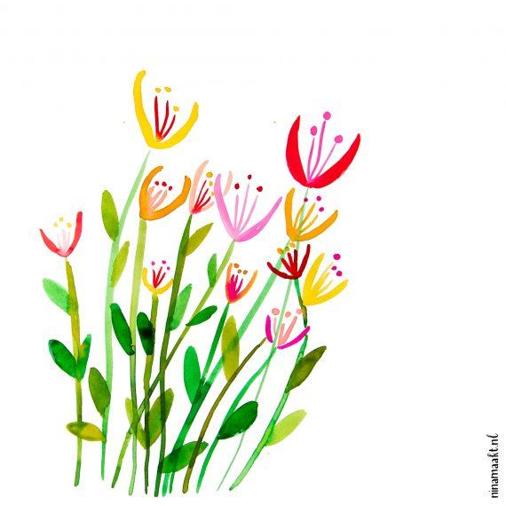 happy acorn ninamaakt flowers