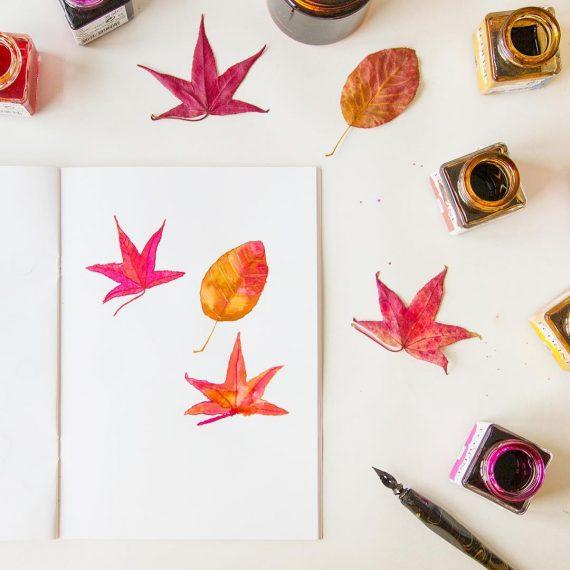 happy acorn autumn desk ninamaakt