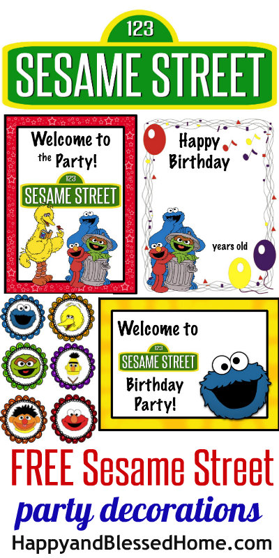 free sesame street birthday party