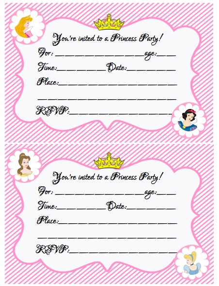 create your own princess birthday party