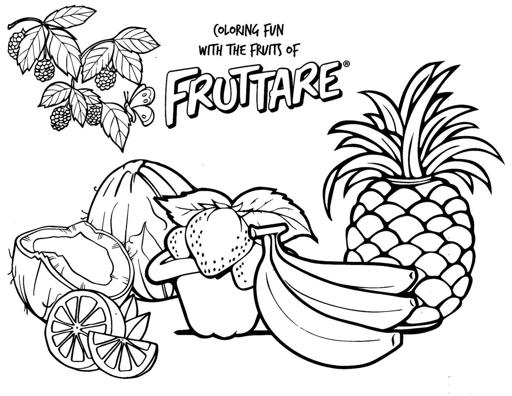 15 Free Printable Pineapple Coloring Pages
