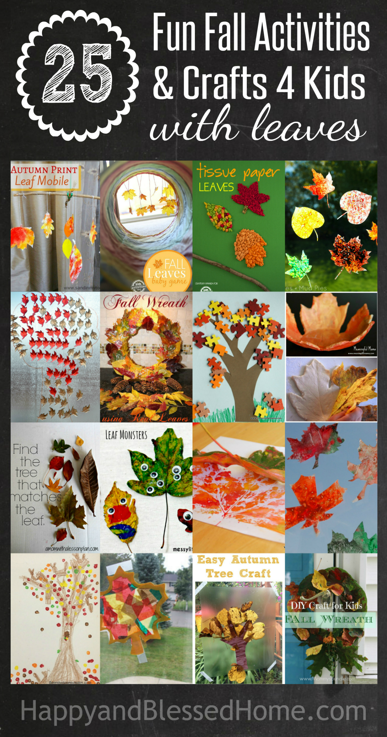 25 Fall Activities And Fall Crafts For Kids With Leaves