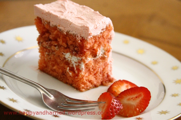 Strawberry Cake With Strawberry Whipped Cream Frosting