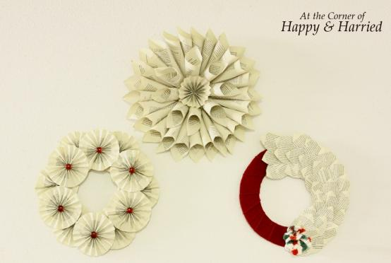 Book Page Wreath 1