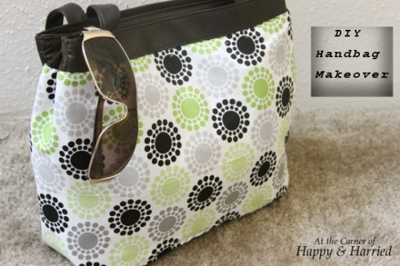 Handbag Makeover With Fabric 6