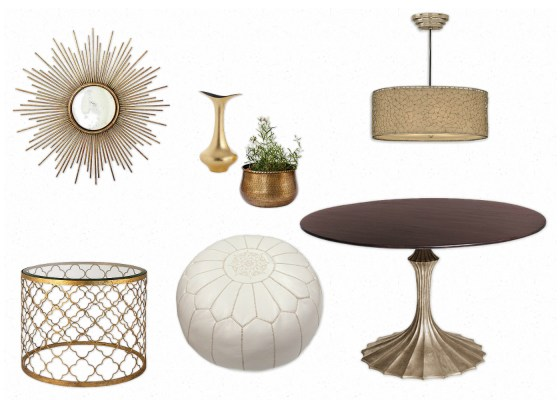 Modern Gold Mood Board 1
