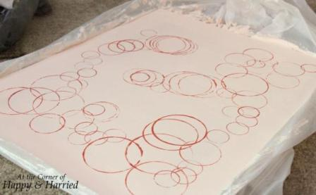 DIY Wall Art_Bubbles Stamped