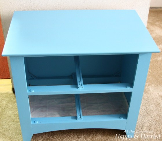 Painted Blue Table