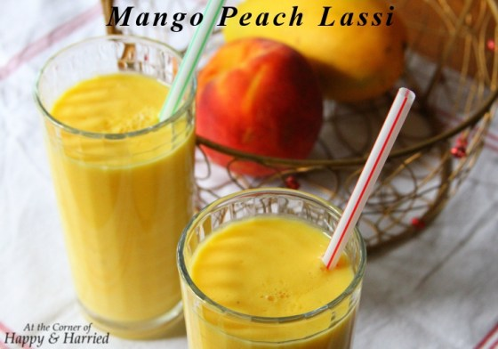 Summer Cooler-Mango Peach Lassi