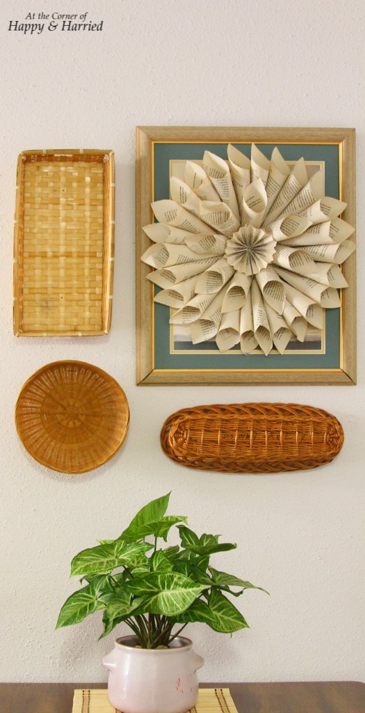 Baskets and Wreath Wall Vignette