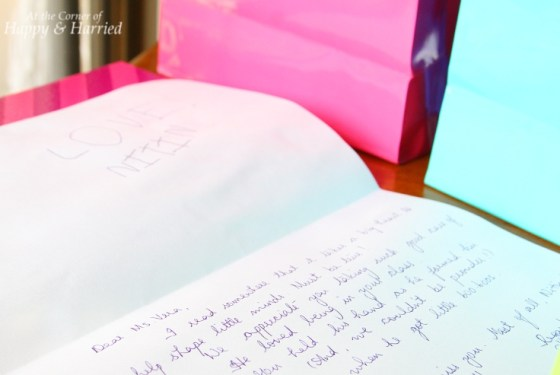 Handwritten Letter to Teacher
