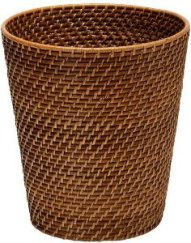 Rattan Brown Trash Can
