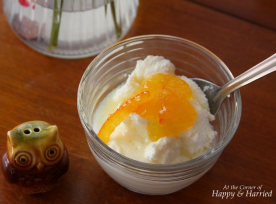 Ricotta Cheese with Orange Marmalade