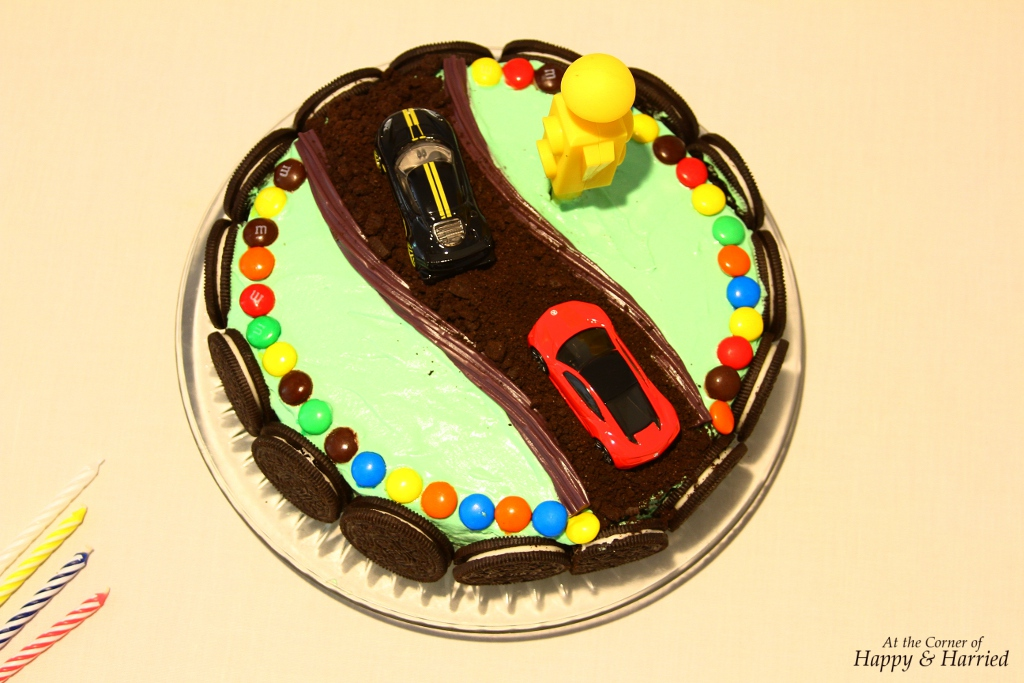 Race Car and Dirt Track Birthday Cake