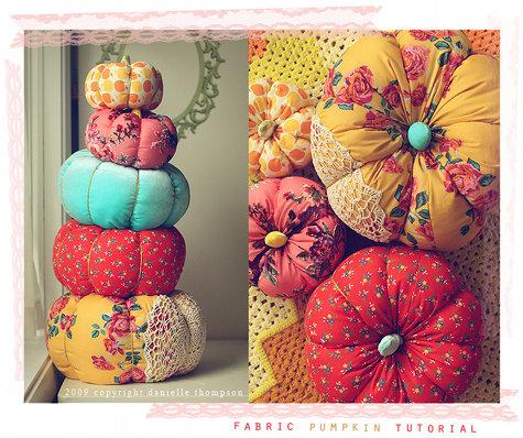 Design Sponge Fabric Pumpkin DIY