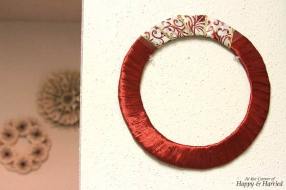Christmas Ribbon Wrapped Wreath