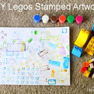 DIY Kids Art – Stamping With Legos & Cars