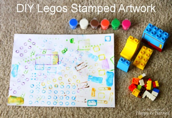 DIY Legos Stamped Artwork