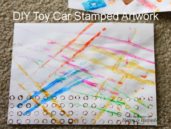 DIY Toy Car Stamped Artwork