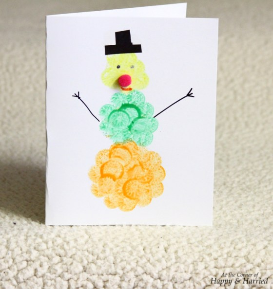 Dotty The Snowman Christmas Card