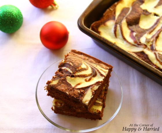 Cream Cheese Swirled Fudgy Brownies - Perfect for Christmas
