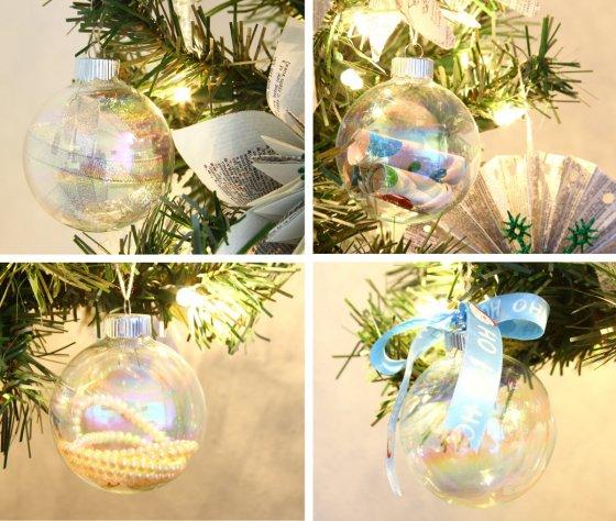 DIY Clear Ornament Balls