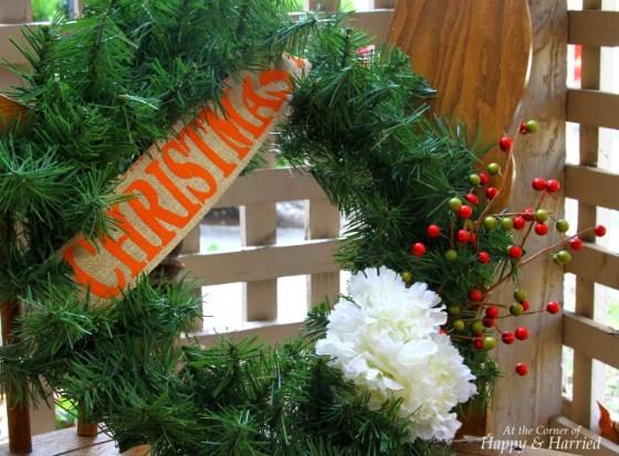 Embellishments A Faux Evergreen Wreath