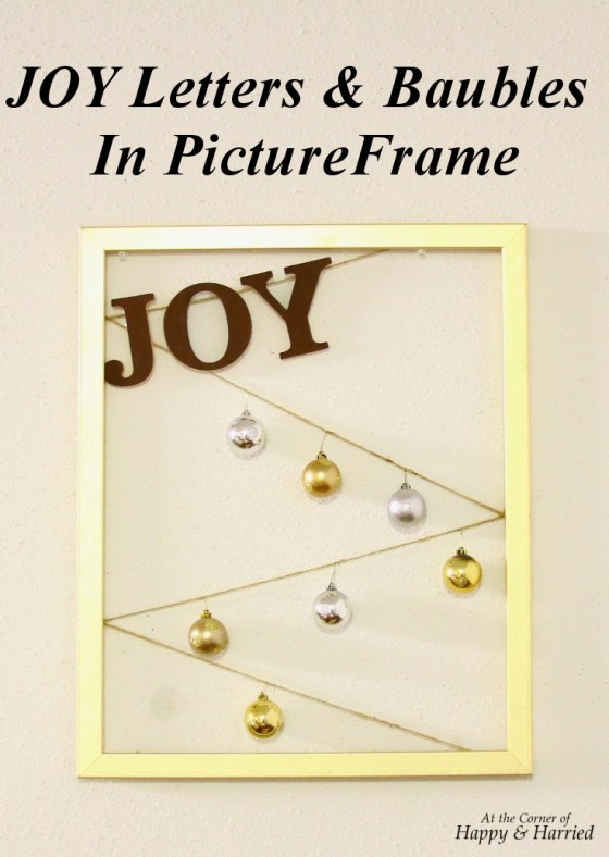 JOY Letters & Baubles In Picture Frame