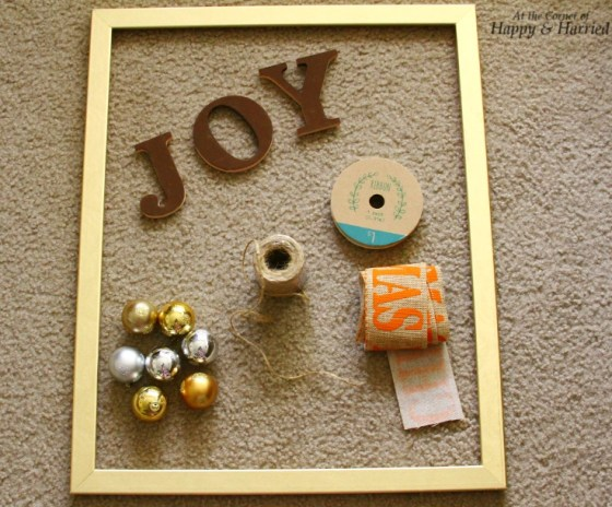 Things Needed for JOY & Baubles Christmas Frame