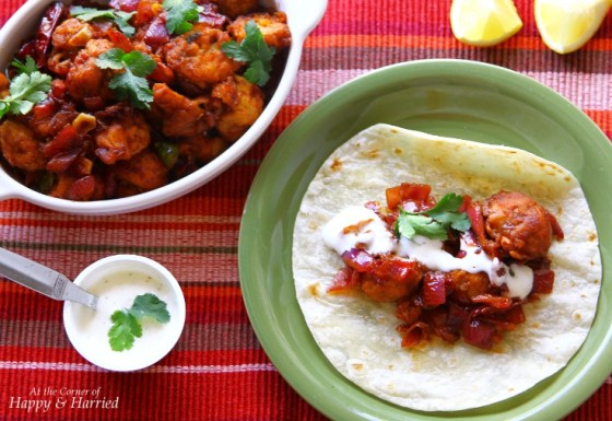 Tacos With Chilli Mushroom & Sour Cream or Ranch