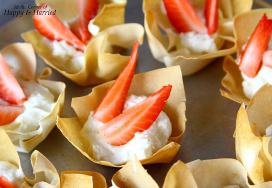 Cream Cheese Filled Spring Roll Wrapper Cups