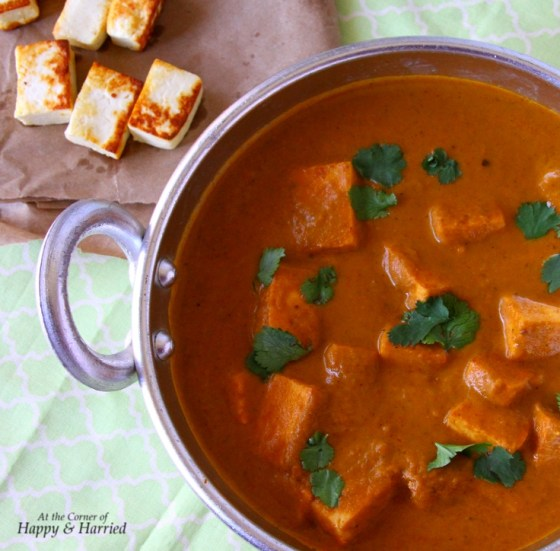Easy Paneer Butter Masala With Lightly Fried Paneeri