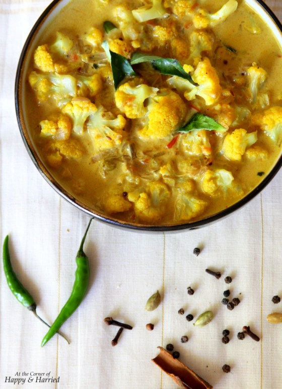 Cauliflower Curry With Coconut Milk