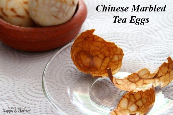 Chinese Marbled Tea Eggs & Eggshells