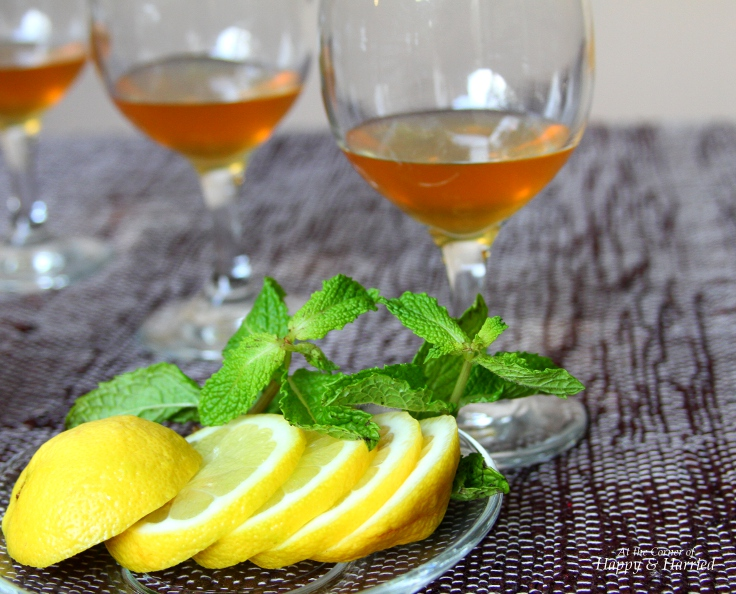 Asian mango with ginger mint syrup